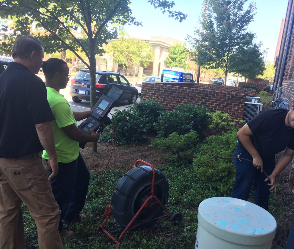 Charleston sewer camera inspection
